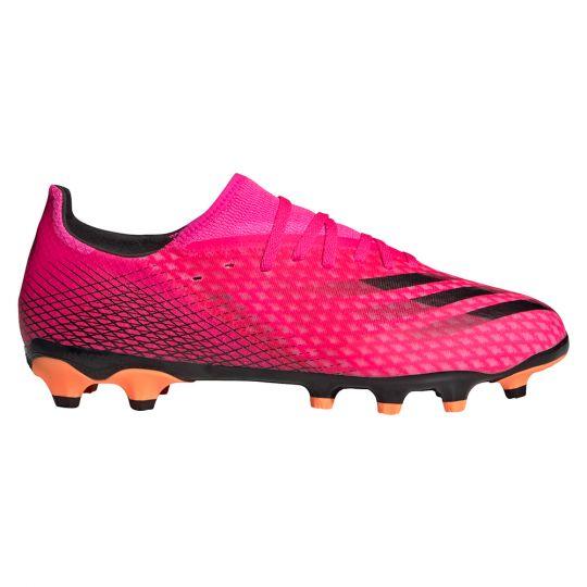 adidas X Ghosted.3 Gras / Kunstgras Voetbalschoenen (MG) Roze Zwart Oranje
