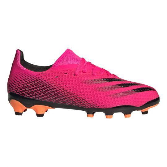 adidas X Ghosted.3 Gras / Kunstgras Voetbalschoenen (MG) Kids Roze Zwart Oranje