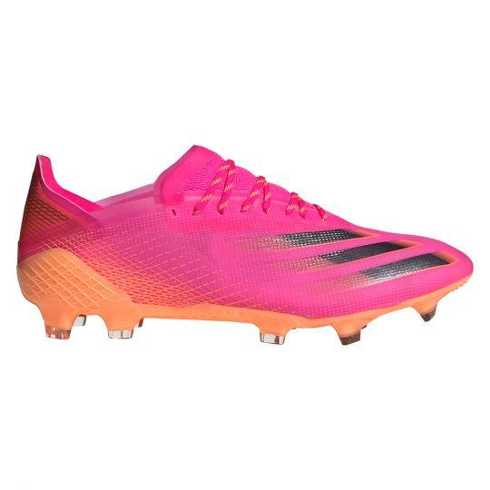 adidas X Ghosted.1 Gras Voetbalschoenen (FG) Roze Zwart Oranje