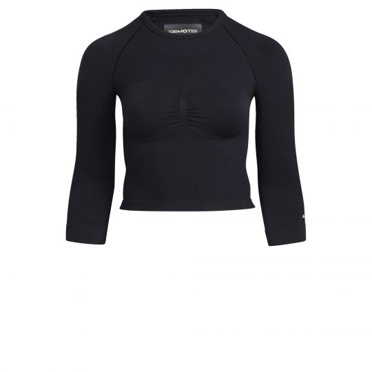 adidas Formotion Cropped Trainingsshirt (Grote Maat) Dames Zwart