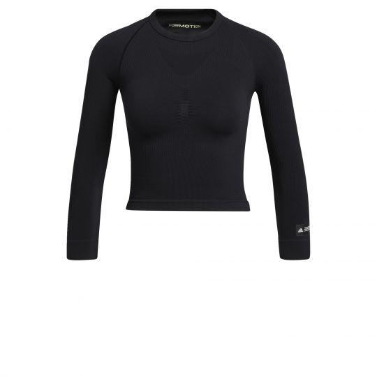 adidas Formotion Cropped Trainingsshirt Dames Zwart