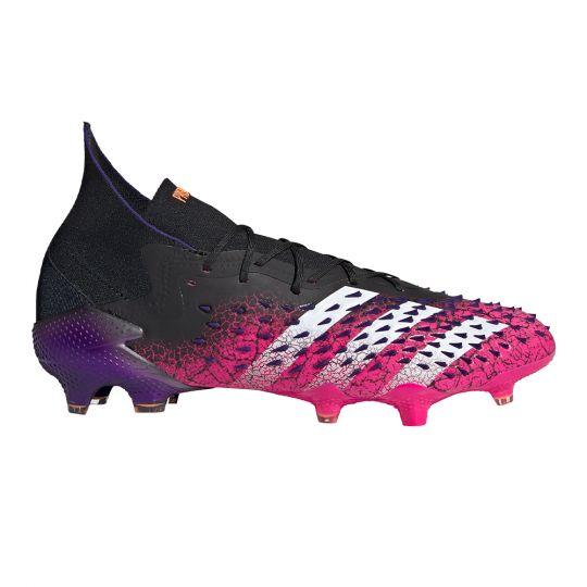 adidas Predator Freak.1 Gras Voetbalschoenen (FG) Zwart Wit Roze