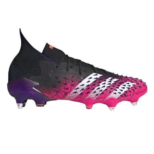 adidas Predator Freak.1 Ijzeren-Nop Voetbalschoenen (SG) Zwart Wit Roze