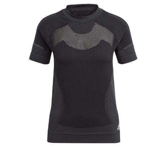 adidas Primeknit Trainingsshirt Dames Zwart Grijs