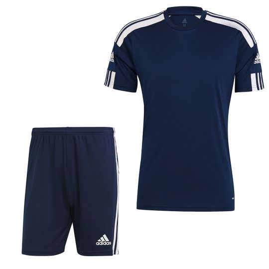 adidas Squadra 21 Trainingsset Kids Donkerblauw Wit