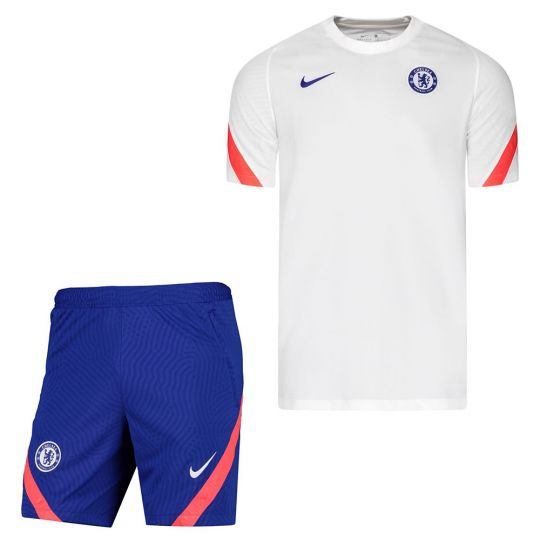 Nike Chelsea Strike Trainingsset Wit Oranje Blauw