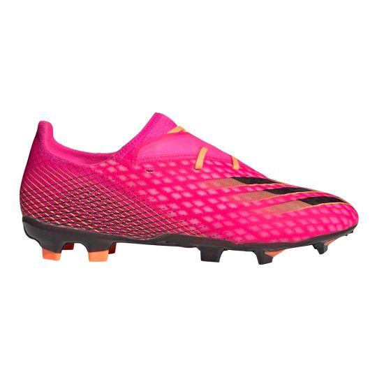 adidas X Ghosted.2 Gras Voetbalschoenen (FG) Roze Zwart Oranje