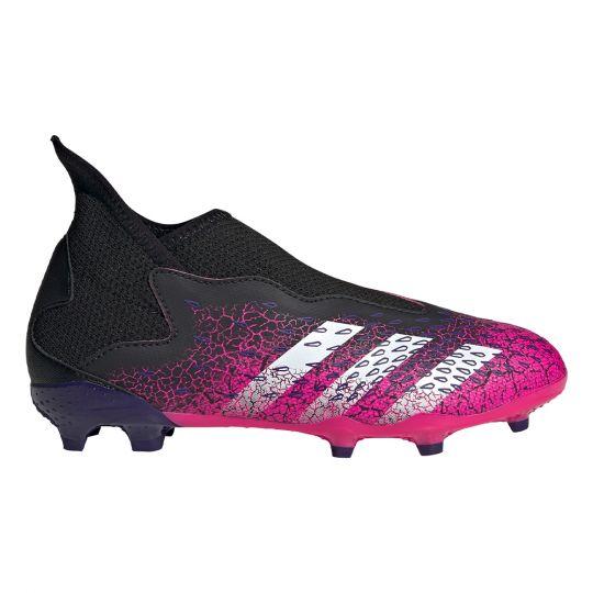 adidas Predator Freak.3 LL Gras Voetbalschoenen (FG) Kids Zwart Wit Roze