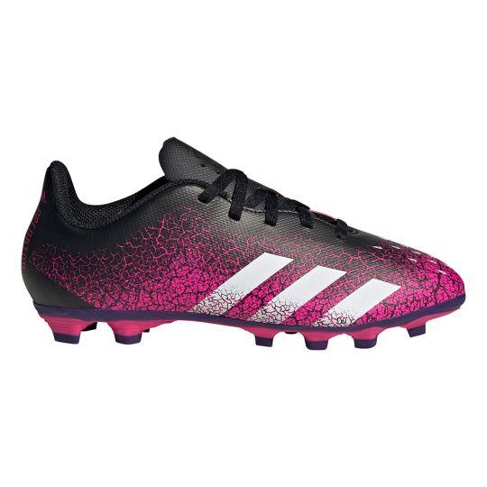 adidas Predator Freak.4 Gras / Kunstgras Voetbalschoenen (FxG) Kids Roze Wit Zwart