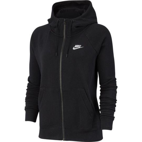 Nike Sportswear Essential Hoodie Full Zip Vrouwen Zwart Wit
