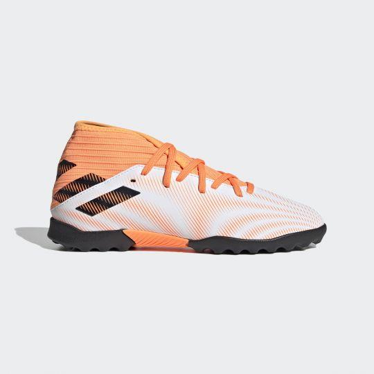 adidas Nemeziz.3 Turf Voetbalschoenen Kids Wit Oranje