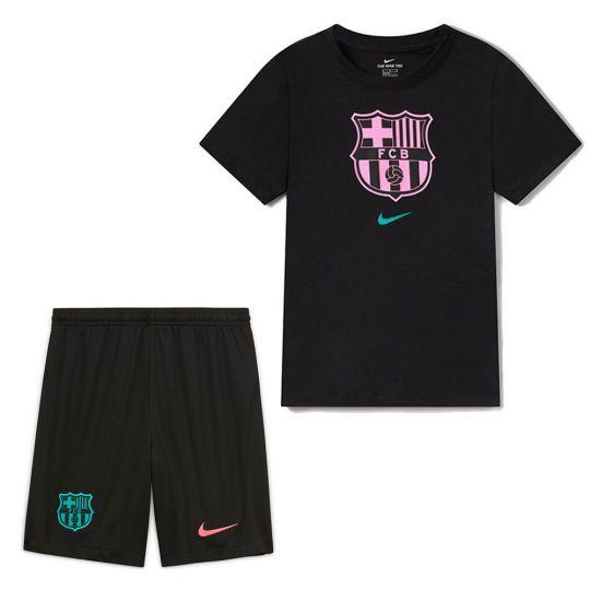 Nike FC Barcelona Zomer-/ Trainingsset Kids Zwart Roze Blauw