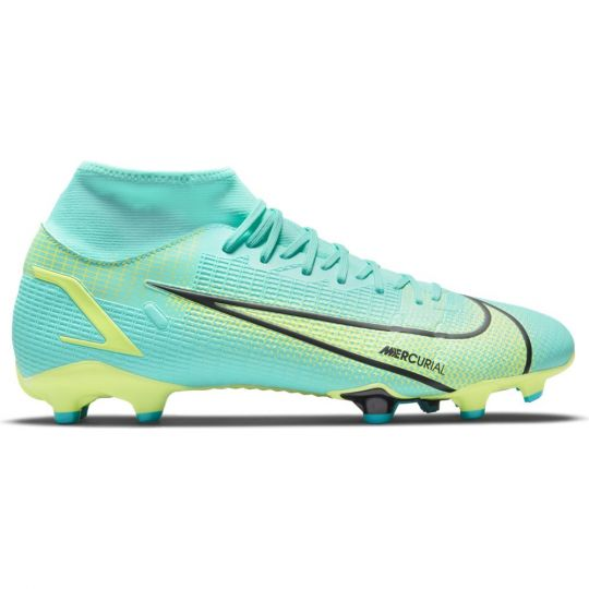 Nike Mercurial Superfly 8 Academy Gras / Kunstgras Voetbalschoenen (MG) Turquoise Lime