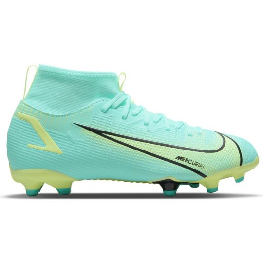 Nike Mercurial Superfly 8 Academy Gras / Kunstgras Voetbalschoenen (MG) Kids Turquoise Lime