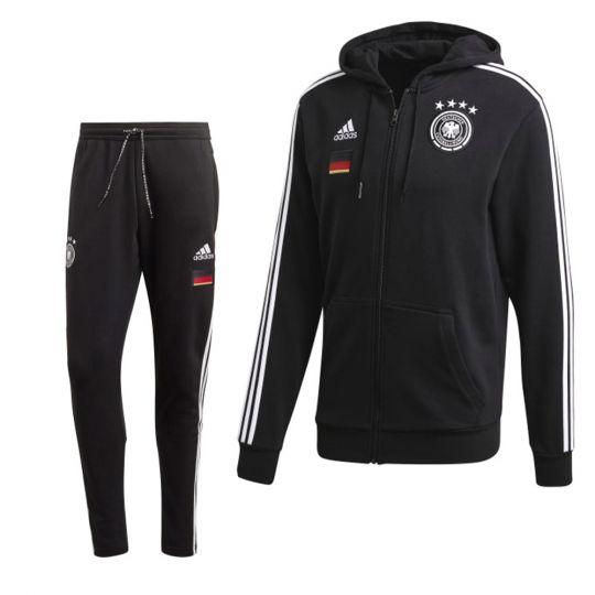 adidas Duitsland Joggingpak 2020-2021 Zwart Wit
