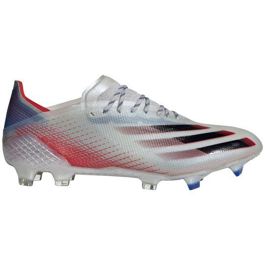 adidas X Ghosted.1 Gras Voetbalschoenen (FG) Zilver Zwart Rood