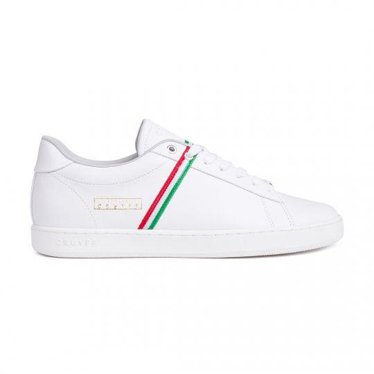 Cruyff Sylva Italië Sneakers Wit Groen Rood