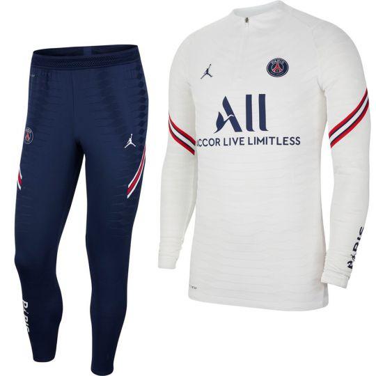 Nike Paris Saint Germain Elite Drill Trainingspak 2021-2022 Wit Donkerblauw