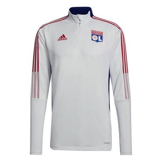 adidas Olympique Lyon Trainingstrui 2021-2022 Wit Blauw