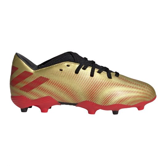 adidas Nemeziz Messi.3 Gras Voetbalschoenen (FG) Kids Goud Rood Zwart
