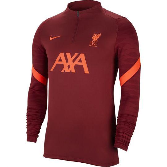 Nike Liverpool Strike Drill Trainingstrui 2021-2022 Kids Rood Felrood