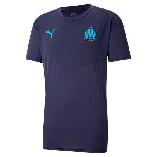 PUMA Olympique Marseille Warming-Up Shirt 2021 Donkerblauw Azuurblauw