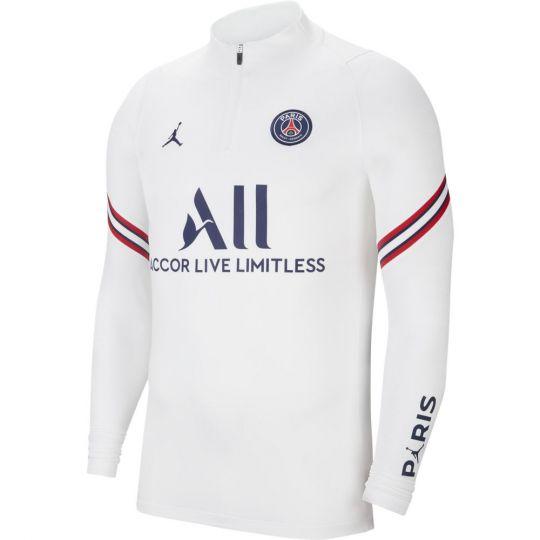 Nike Paris Saint Germain Strike Drill Trainingstrui 2021-2022 Kids Wit Donkerblauw