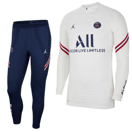 Nike Paris Saint Germain Strike Drill Trainingspak 2021-2022 Wit Donkerblauw