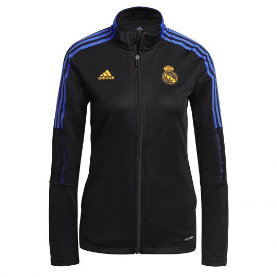 adidas Real Madrid Trainingsjack 2021-2022 Dames Zwart