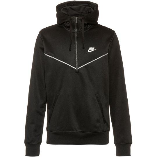 Nike SW Hoodie Half Zip Zwart Wit