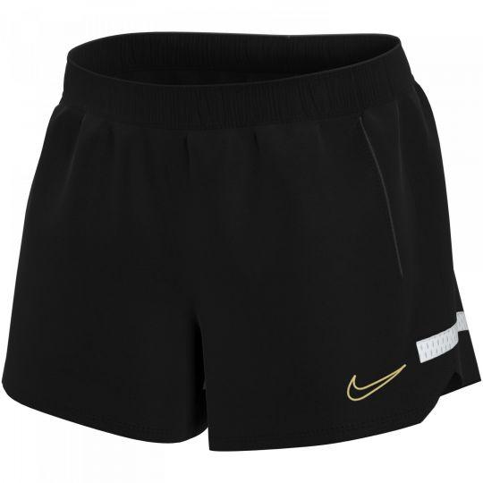 Nike Academy 21 Trainingsbroekje Dames Zwart Wit Goud