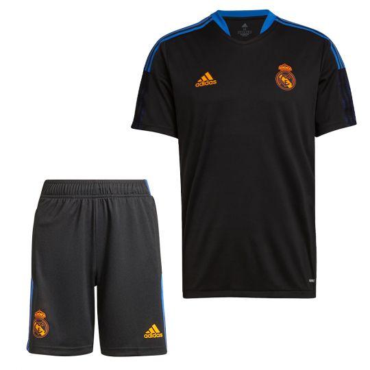 adidas Real Madrid Trainingsset 2021-2022 Kids Zwart