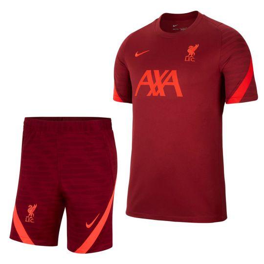 Nike Liverpool Strike Trainingsset 2021-2022 Dames Rood Felrood