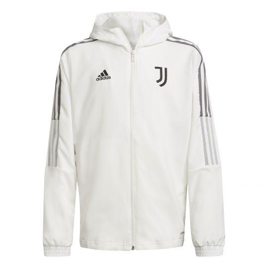 adidas Juventus Presentatie Trainingsjack 2021-2022 Kids Wit