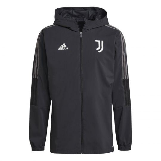adidas Juventus Presentatie Trainingsjack 2021-2022 Donkergrijs