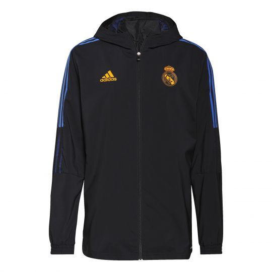 adidas Real Madrid Presentatie Trainingsjack 2021-2022 Zwart