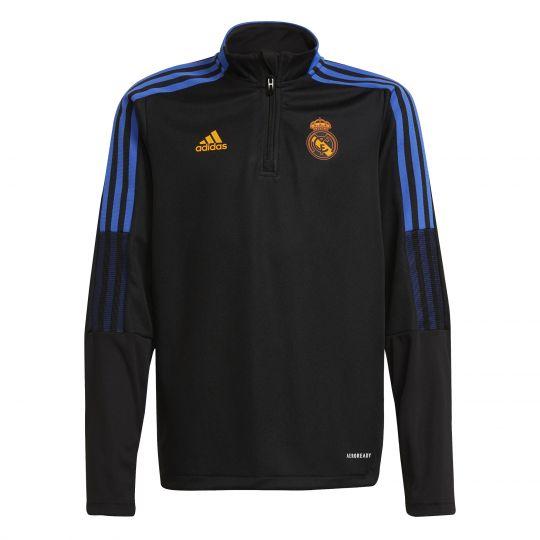 adidas Real Madrid Trainingstrui 2021-2022 Kids Zwart