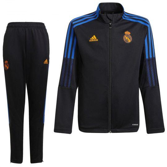 adidas Real Madrid Trainingspak 2021-2022 Kids Zwart