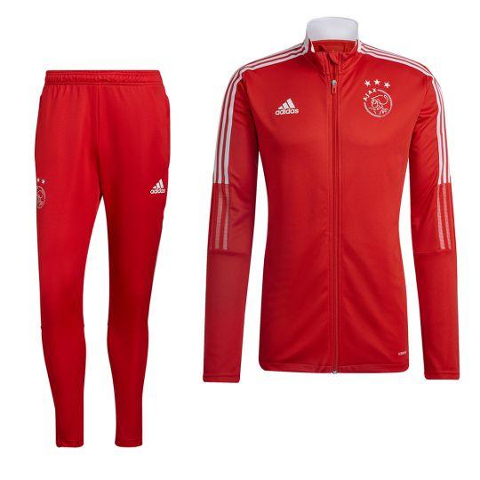 adidas Ajax Full-Zip Trainingspak 2021-2022 Rood