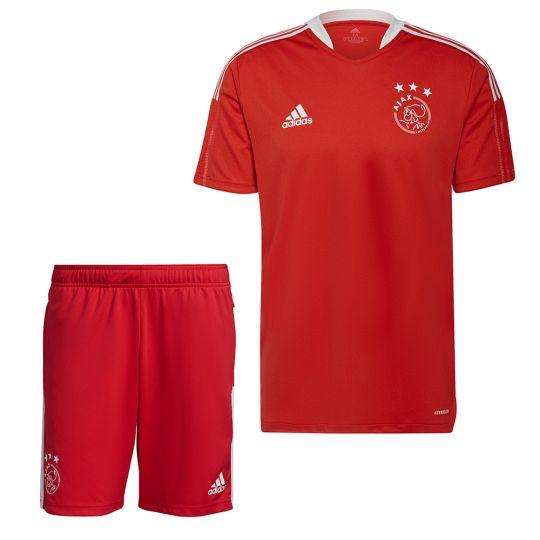 adidas Ajax Trainingsset 2021-2022 Rood