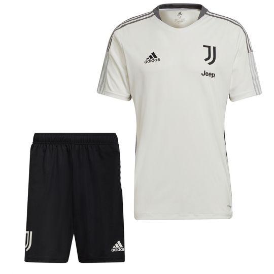 adidas Juventus Trainingsset 2021-2022 Kids Wit Zwart