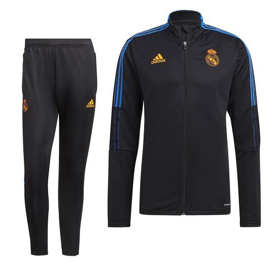 adidas Real Madrid Trainingspak 2021-2022 Zwart